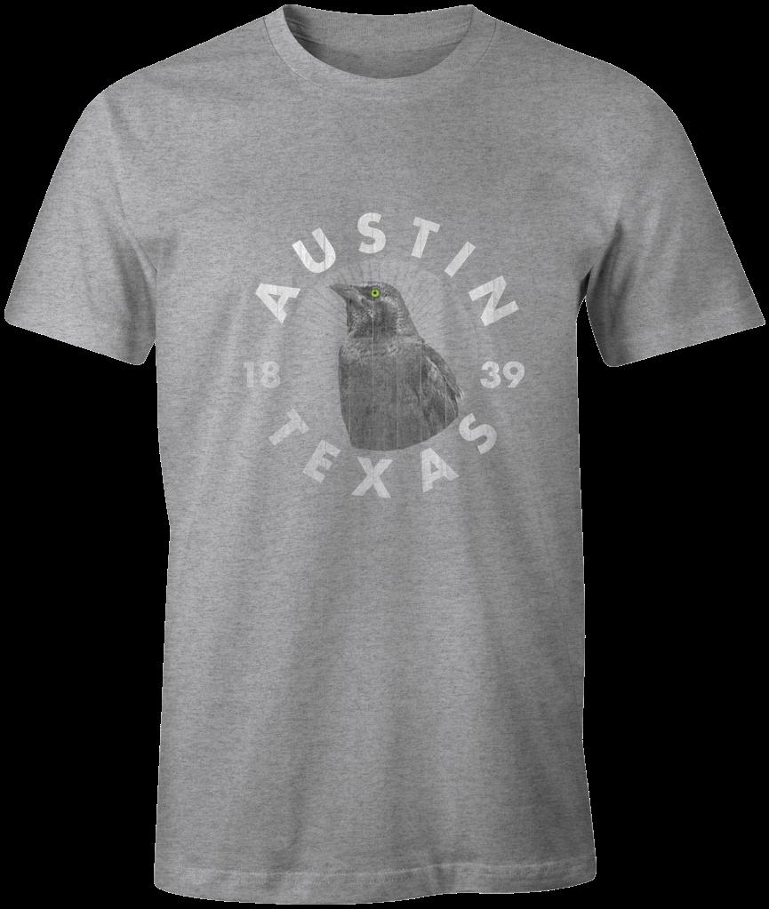 Austin Texas Grackle Logo T-Shirt